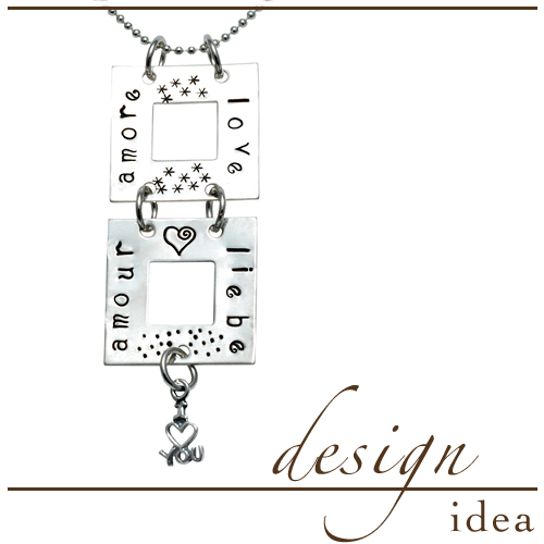 Design Idea: Love Squared Pendant