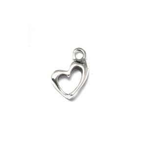 Charms & Solderable Accents Sterling Silver Open Heart Charm