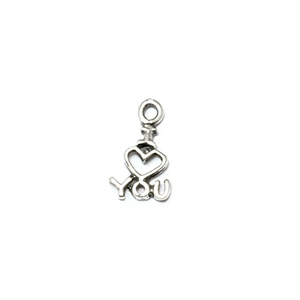 "Charms & Solderable Accents Sterling Silver Tiny ""I Love You"" Charm"