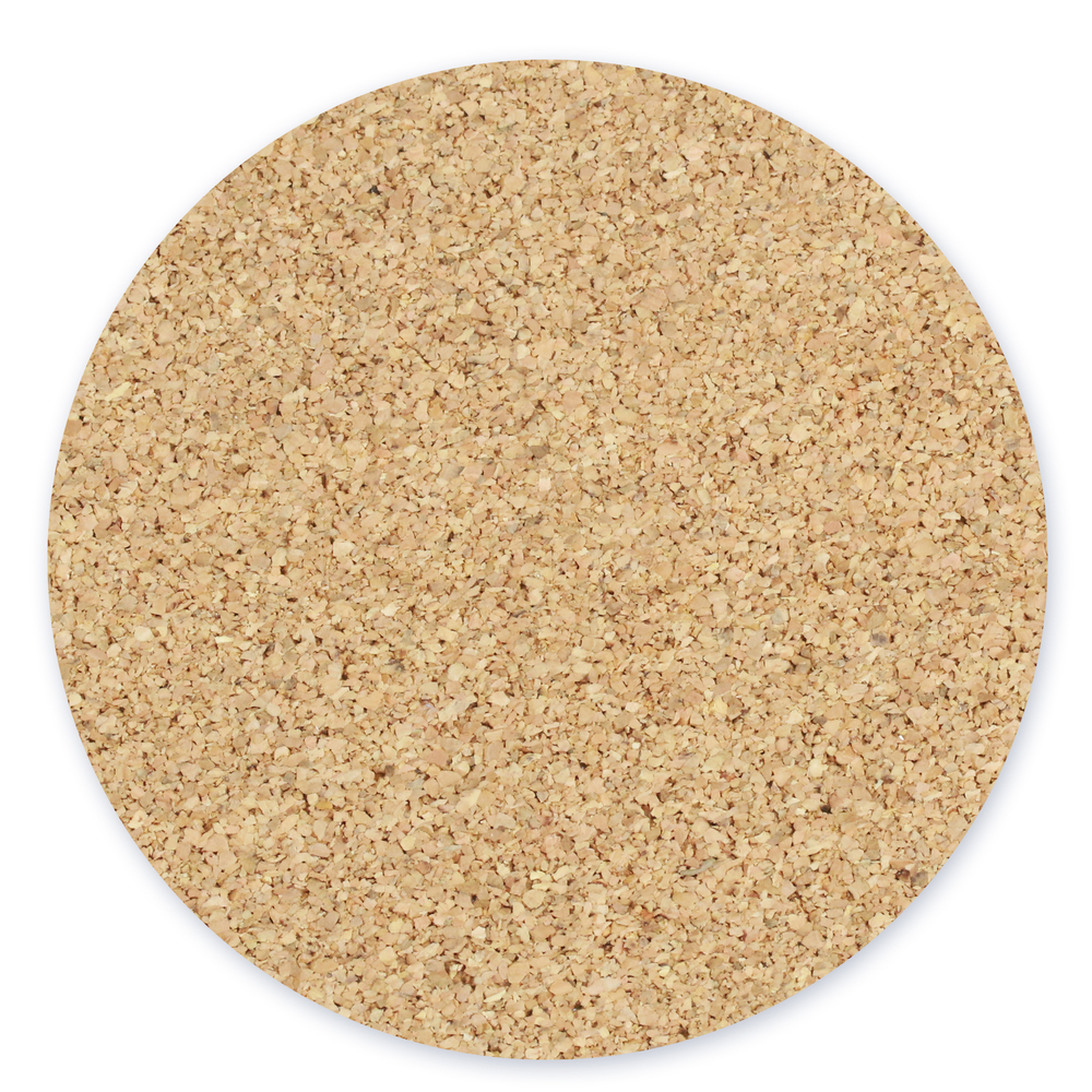 "Cork Pad with Sticky Backing for 4"" Aluminum Circle Coaster"