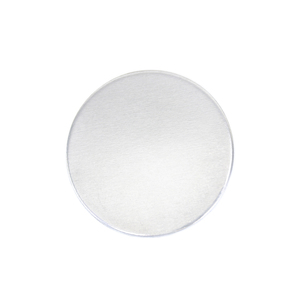 "Metal Stamping Blanks Aluminum Round, Disc, Circle, 22mm (.87""), 16g - *No plastic film, Pack of 4"