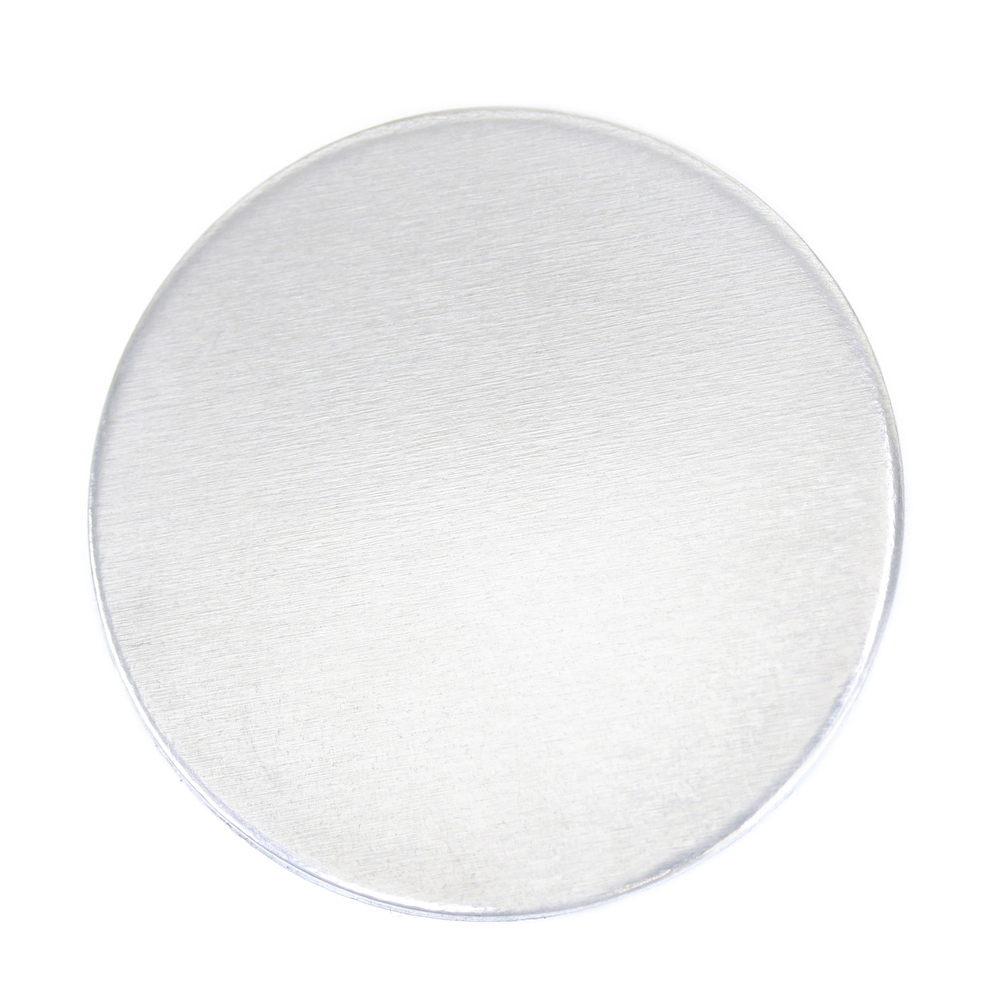 "Metal Stamping Blanks Aluminum Round, Disc, Circle, 38mm (1.5""), 16g - *No plastic film, Pack of 4"