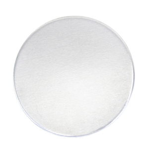 "Metal Stamping Blanks Aluminum Round, Disc, Circle, 38mm (1.5""), 16g - *No plastic film, Pk of 5"