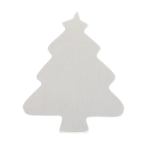"Metal Stamping Blanks Aluminum Tree, 55.5mm (2.2"") x 46.8mm (1.8""), 18g"