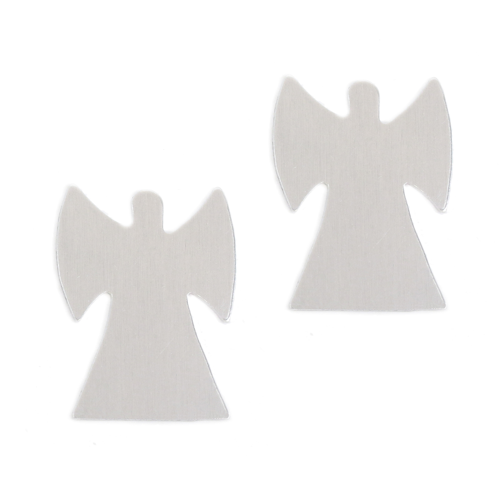 "Metal Stamping Blanks Aluminum Angel, 33.6mm (1.32"") x 25.6mm (1""), 18g - Pk of 2"
