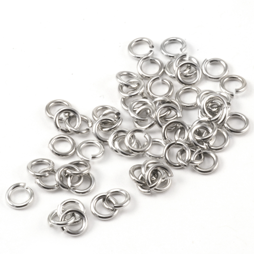 Jump Rings Stainless Steel 4mm I.D. 20 Gauge Jump Rings, 1/4 Ounce Pack