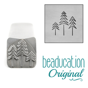 Metal Stamping Tools Three Trees Metal Design Stamp, 11mm - Beaducation Original