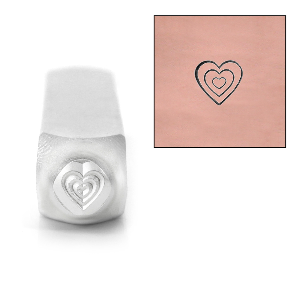 Metal Stamping Tools ImpressArt Multi Heart Metal Design Stamp, 6mm