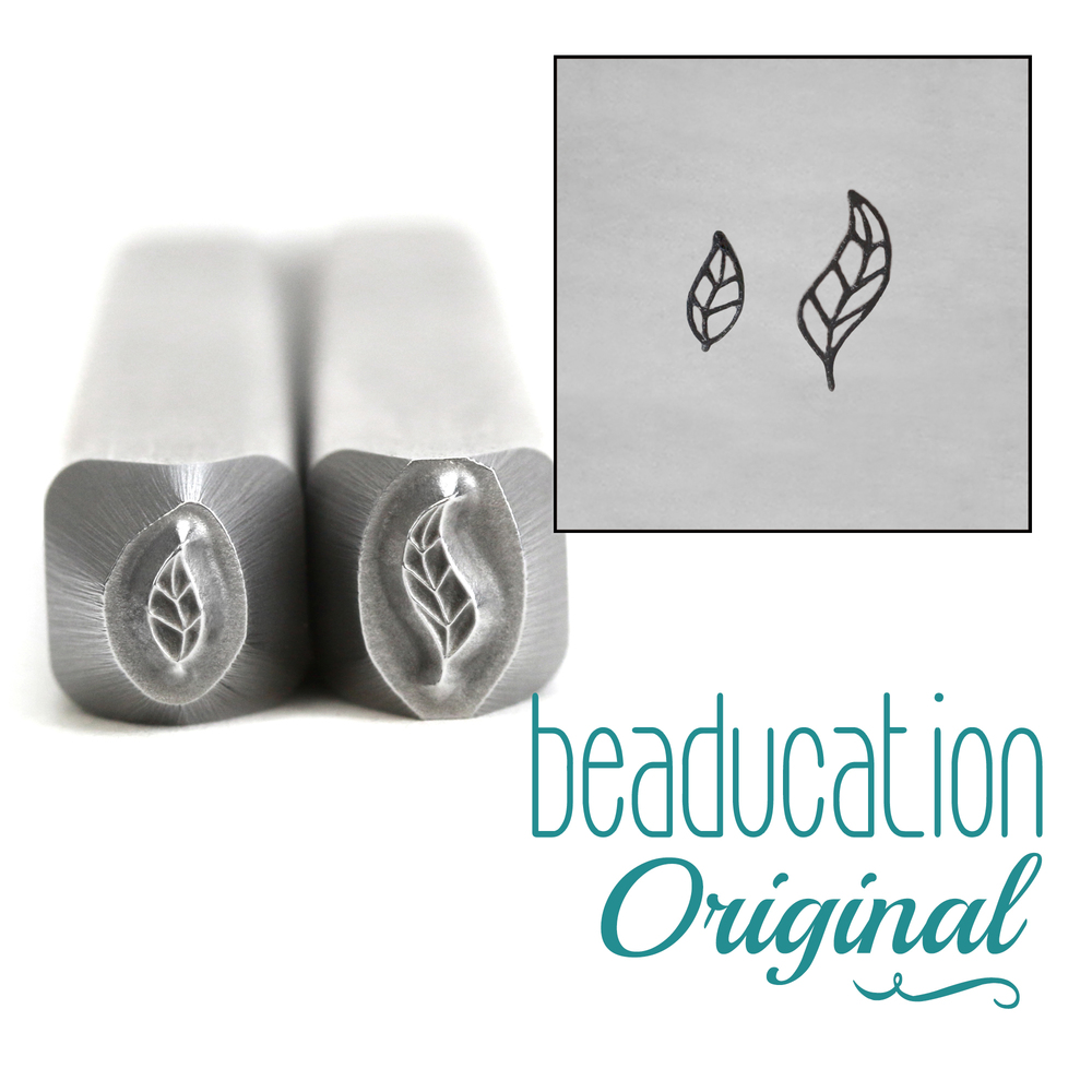 Metal Stamping Tools Pointy Leaf Set Metal Design Stamps, 5mm and 4mm - Beaducation Original