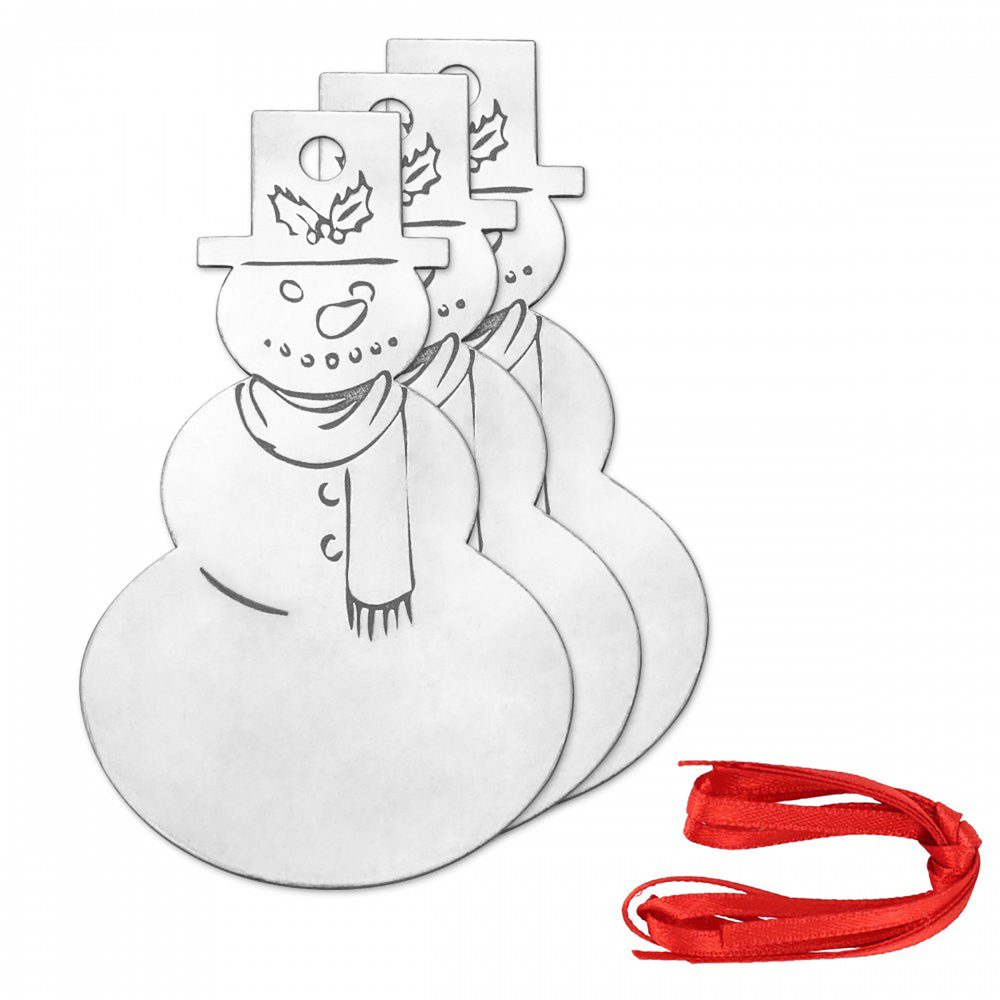 Metal Stamping Blanks DIY Snowman Ornament Project Kit, 14g - ImpressArt