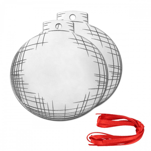 Metal Stamping Blanks DIY Ball Ornament Project Kit, 14g - ImpressArt