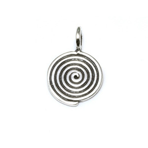 Charms & Solderable Accents Sterling Silver Spiral Charm