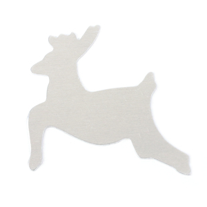 """Metal Stamping Blanks Aluminum Reindeer, 57mm (2.24"""") x 53.5mm (2.1""""), 18g"""