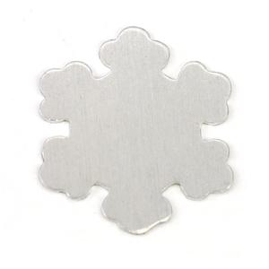 "Metal Stamping Blanks Aluminum Snowflake, 57.2mm (2.25""), 18g"