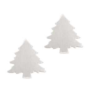 "Metal Stamping Blanks Aluminum Pine Tree,  32.2mm (1.27"") x 30.6mm (1.2"") , 18g - Pk of 2"