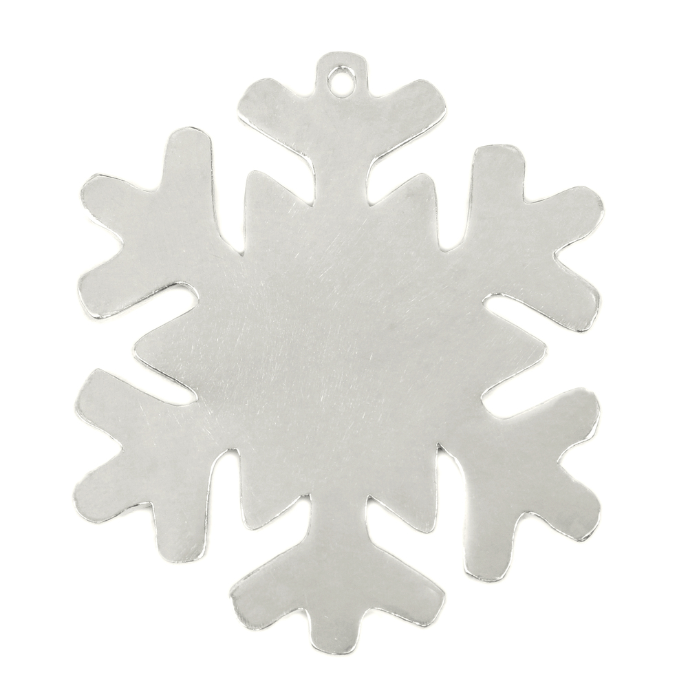 "Metal Stamping Blanks Pewter Snowflake Ornament, 70mm (2.75"") x 58mm (2.28"") with 2.6mm Hole, 18g"