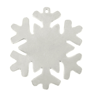 """Metal Stamping Blanks Pewter Snowflake Ornament, 70mm (2.75"""") x 58mm (2.28"""") with 2.6mm Hole, 18g"""
