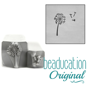 Metal Stamping Tools Dandelion & Fluff Flower Metal Design Stamps, 8mm, Beaducation Exact Series by Stamp Yours