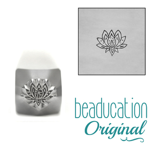 Metal Stamping Tools Lotus Flower Metal Design Stamp, 6mm, Beaducation Exact Series by Stamp Yours