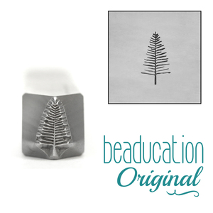 Metal Stamping Tools Evergreen Tree Metal Design Stamp, 8mm, Beaducation Exact Series by Stamp Yours