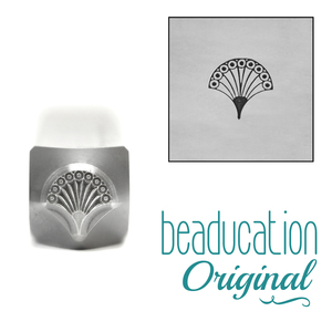 Metal Stamping Tools Fan 1, Art Deco Metal Design Stamp, 6mm, Beaducation Exact Series by Stamp Yours