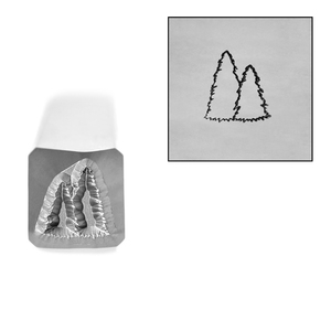 Metal Stamping Tools Spruce Trees Outline Metal Design Stamp, 6mm, by Stamp Yours