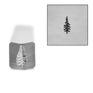 Metal Stamping Tools Pine Tree Metal Design Stamp, 6mm, by Stamp Yours