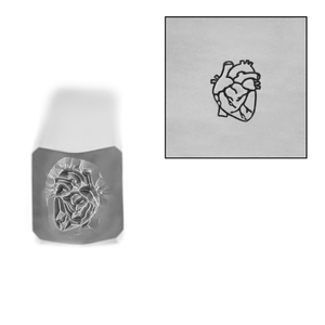 Metal Stamping Tools Anatomical Heart Metal Design Stamp, 6mm, by Stamp Yours