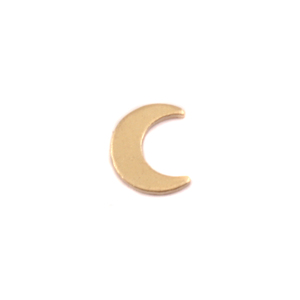 "Charms & Solderable Accents Gold Filled Plain Crescent Moon Solderable Accent, 6mm (.24"") x 5mm (.19""), 24g - Pack of 5"