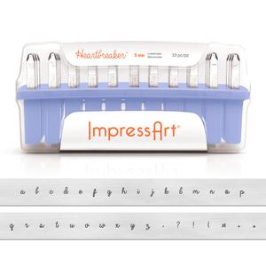 Metal Stamping Tools ImpressArt Lowercase Heartbreaker Letter Stamp Set, 3mm
