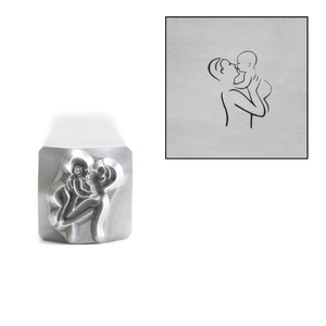 Metal Stamping Tools Father, Dad Holding Baby Metal Design Stamp, 8mm, by Stamp Yours