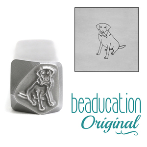 Metal Stamping Tools Labrador Dog Sitting Metal Design Stamp- Beaducation Original