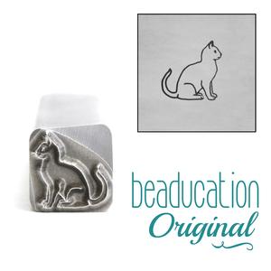 Metal Stamping Tools Sitting Cat Metal Design Stamp, 9mm - Beaducation Original