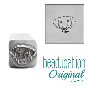 Metal Stamping Tools Labrador Dog Face Metal Design Stamp, 8.3mm - Beaducation Original
