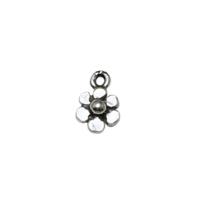 Charms & Solderable Accents Sterling Silver Tiny Flower Charm, Pk of 5