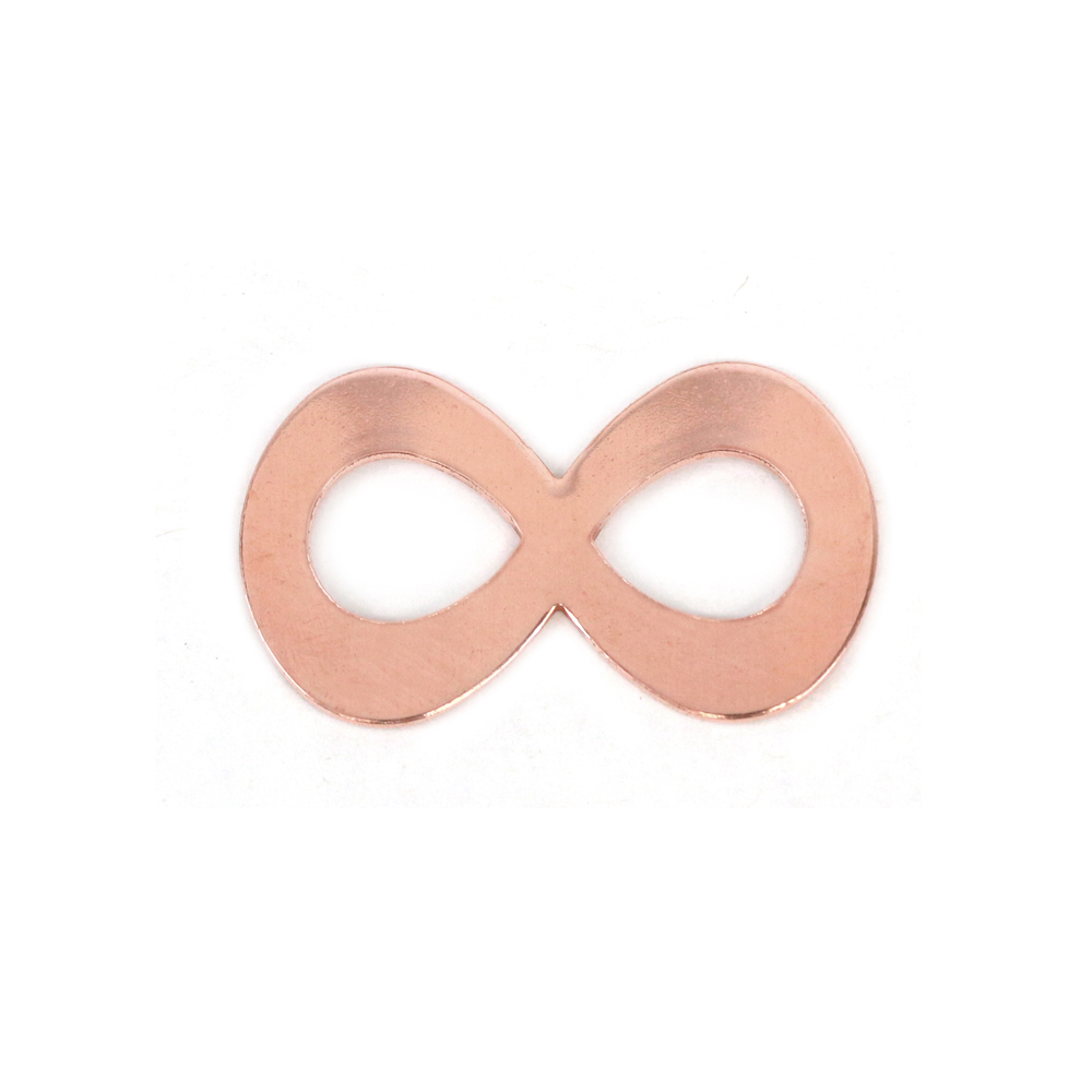 "Metal Stamping Blanks Copper Infinity, 32mm (1.26"") x 18.3 (.72""), 20g, Pack of 5 - Tumbled"
