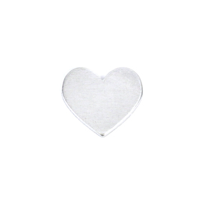 "Metal Stamping Blanks Aluminum Heart, 16mm (.63"") x 14mm (.55""), 16g, Pack of 5"