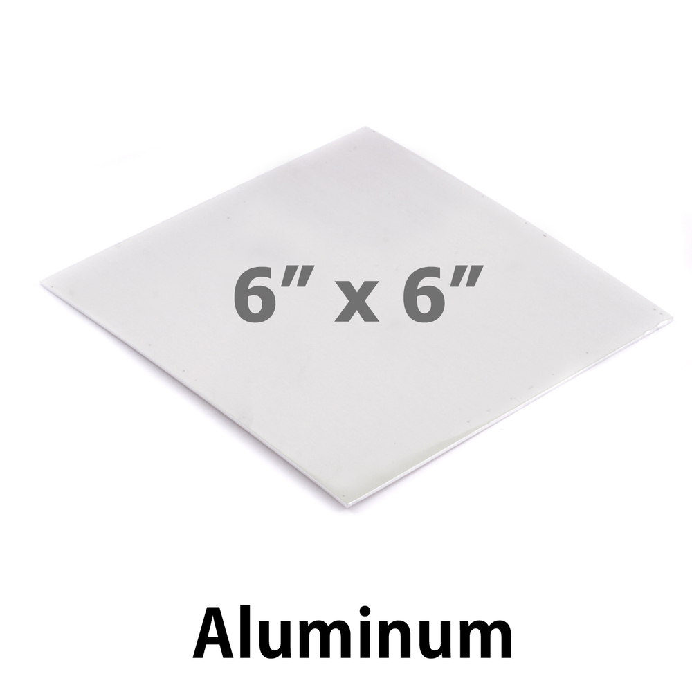 "Wire & Sheet Metal Aluminum Sheet Metal, 6"" x 6"", 20 Gauge, Great for Bookmarks"