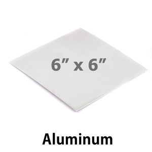 "Wire & Sheet Metal Aluminum Sheet, 6"" x 6"", 20g, Great for Bookmarks"