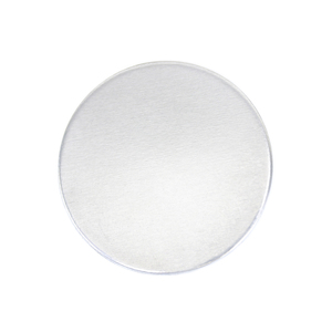 "Metal Stamping Blanks Aluminum Round, Disc, Circle, 25mm (1""), 14g, Pack of 5 - Tumbled"