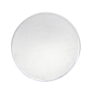 "Metal Stamping Blanks Aluminum Round, Disc, Circle, 32mm (1.25""), 14g, Pk of 5 - Tumbled"
