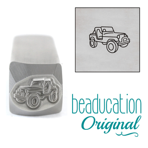 Metal Stamping Tools Classic 4x4 Vintage SUV Off Road Vehicle Metal Design Stamp, 10mm - Beaducation Original