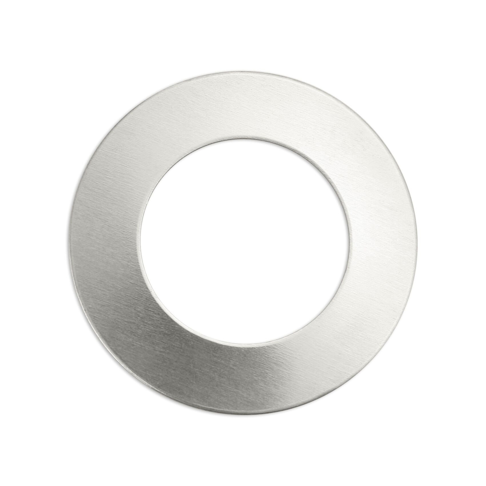 "Metal Stamping Blanks Alkeme Washer, 25mm (1"") with 12.7mm (.50"") ID, 18 Gauge, Pack of 4"