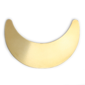 "Metal Stamping Blanks Brass Crescent Moon Blank, 49mm (1.93"") x 32mm (1.26""), 24g, Pack of 5"