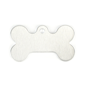 "Metal Stamping Blanks Aluminum Dog Bone with Top Loop, 43mm (1.7"") x 25mm (1""), 14g, Pack of 5"