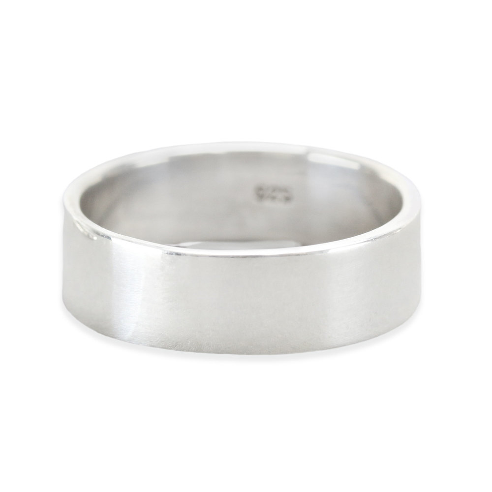 Metal Stamping Blanks Sterling Silver Ring Stamping Blank, 6mm Wide, SIZE 8, *PLEASE READ PRODUCT NOTE