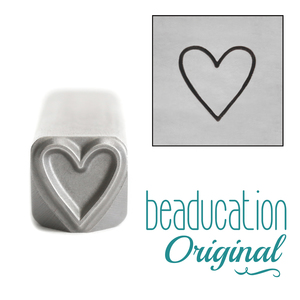 Metal Stamping Tools Tall Heart Metal Design Stamp, 8.3mm - Beaducation Original