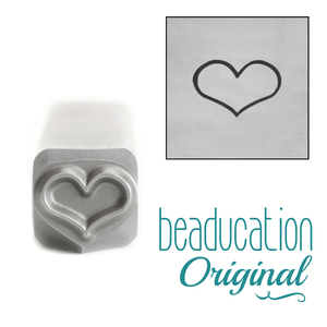 Metal Stamping Tools Fat Heart Metal Design Stamp, 8mm - Beaducation Original