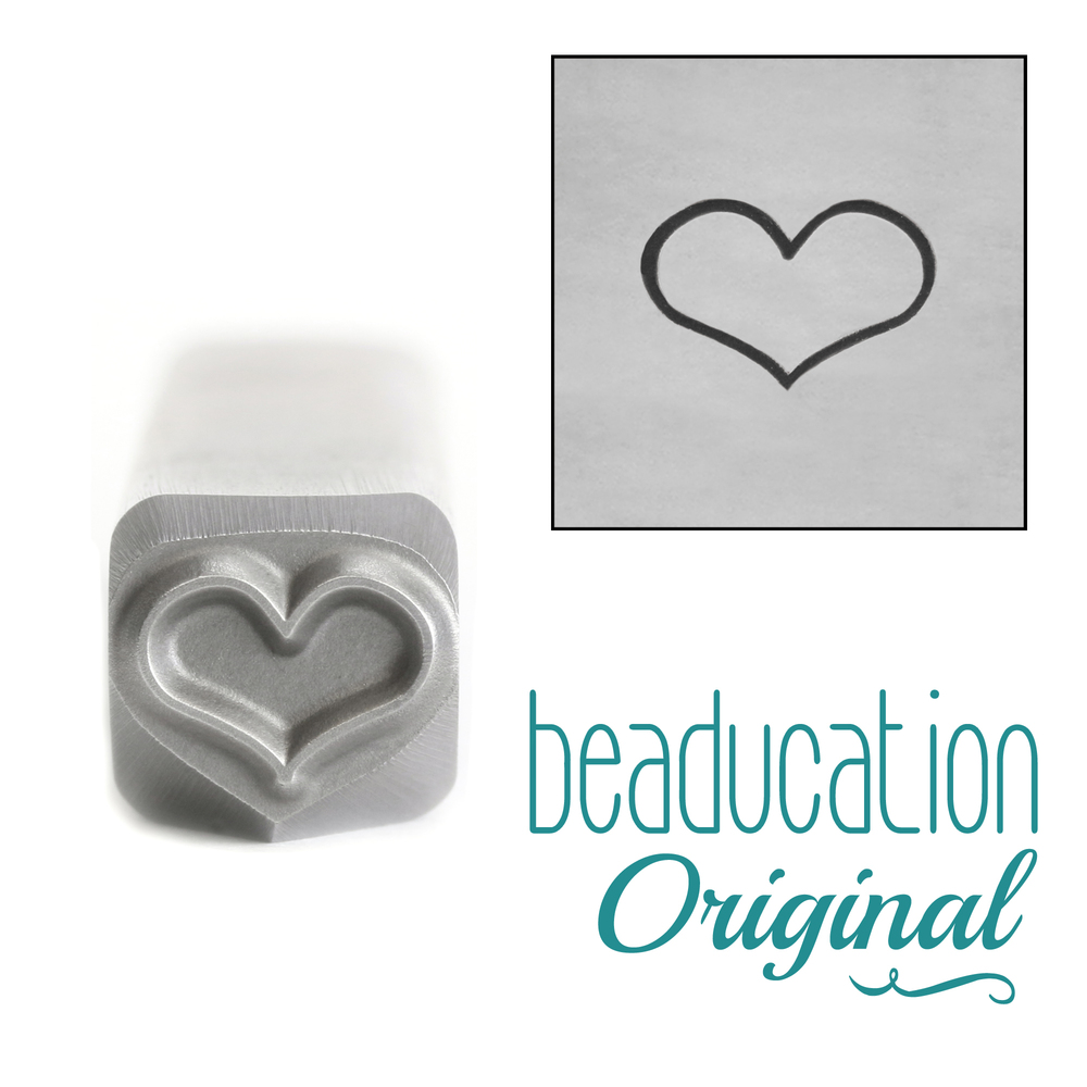 Metal Stamping Tools Fat Heart Metal Design Stamp, 6mm - Beaducation Original