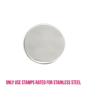 "Metal Stamping Blanks Stainless Steel Round, Disc, Circle 25mm (1""), 22g, Pack of 5"